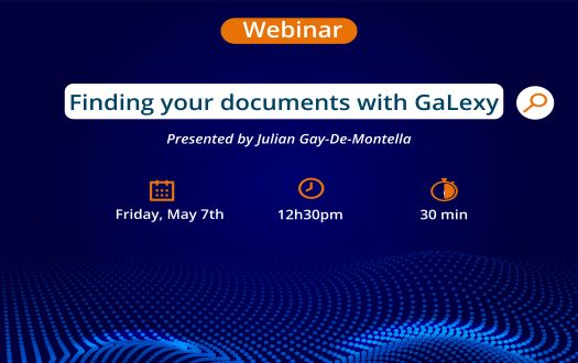 Webinar: Finding your documents with GaLexy